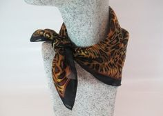 Nikituch Animal Print in rost - caramel mit schwarzer Kante