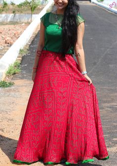 Skirt long midi blouses 45 Ideas for 2019 Indian Skirt, Indian Dresses, Indian Outfits, Indian Clothes, Churidar Designs, Lehenga Designs, Choli Designs, Long Gown Dress, Saree Dress