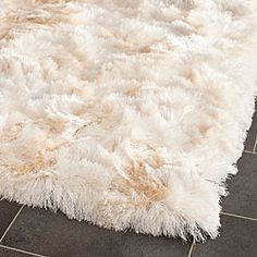 Safavieh Handmade Silken Glam Paris Shag Ivory Rug x ft. x 3 ft. )), Beige Off-White, Size x (Polyester, Solid) Calming Bedroom Colors, Bedroom Color Schemes, Polyester Rugs, Shag Carpet, Family Room Decorating, Do It Yourself Home, Home Living, Living Rooms, Home Decor Ideas