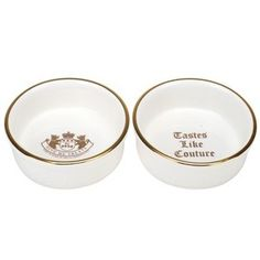 Juicy Couture dog bowls