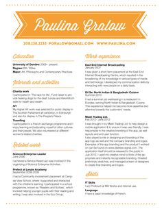 customized resume design / the paulina  Ask a Question $60.00 USD Only 1 available