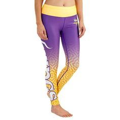 Minnesota Vikings Klew Women's Gradient Leggings - Purple