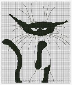 Монохром вышивка крестом коты