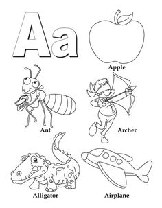 My A to Z Coloring Book Letter F coloring page  Letter of the Day