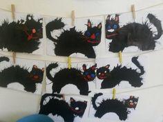 z netu - rozfoukávaná tuš Halloween Crafts, Halloween Party, Classroom Crafts, Autumn Art, Painting For Kids, Teaching Art, Elves, Reindeer, Crafts For Kids