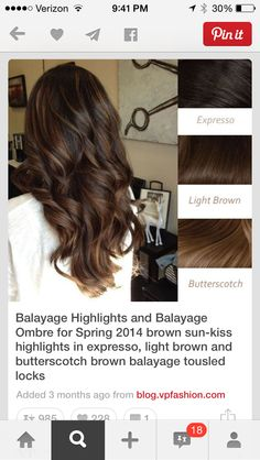 Balayage for dark brown hair