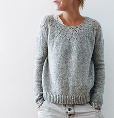 Knitting Patterns Sweaters Ravelry: Yume pattern by Isabell Kraemer Sweater Knitting Patterns, Lace Knitting, Knitting Stitches, Knit Patterns, Knit Crochet, Knitting Sweaters, Cardigan Pattern, Women's Sweaters, Pullover Sweaters