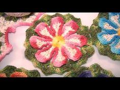 Flor do Campo em crochê (passo a passo) - Cristina Luriko - YouTube