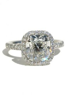 Louis Glick Cushion Cut 3.22ct Diamond Ring | Oster Jewelers, Denver Colorado #mydiamondstyle #mybridalstyle