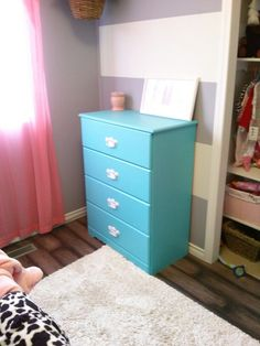 Nursery dresser redo