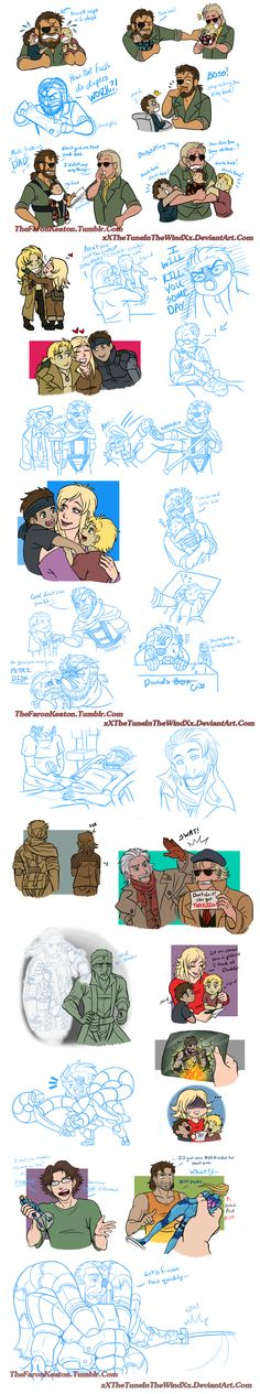 Metal Gear Doodle Dump 2 by xXTheTuneInTheWindXx on DeviantArt