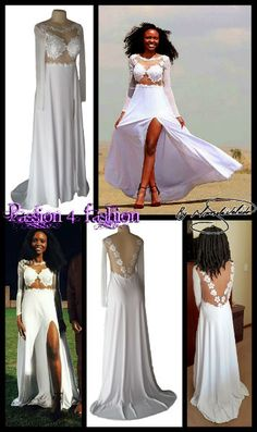 White flowy lace bodice matric dance dress with an illusion