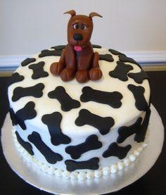 Dog Birthday Cakes Recipes 70 | Birthdays Cakes Ideas Puppy Birthday Cakes, Dog Birthday, Happy Birthday, Birthday Cake Decorating, Cake Decorating Tips, Fancy Cakes, Cute Cakes, Fondant Cakes, Cupcake Cakes