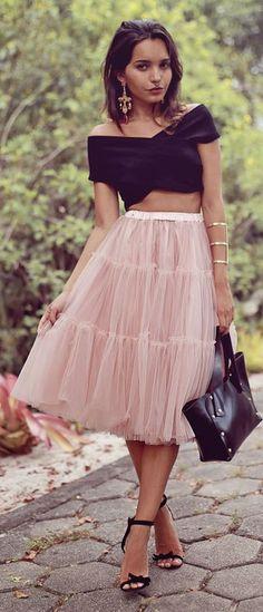 Light Pink Tulle A-skirt