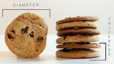 Engineering the perfect cookie: You can control the diameter and thickness of your favorite chocolate chip cookies by changing the temperatu... baking tips, chocolate chips, chocolates, baking cookies, butter, bake, texture, sweet treats, perfect cooki