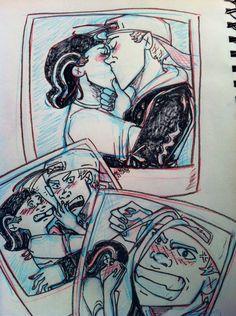 Ed, Edd n' Eddy - Kevin & Edd/Double D - Fanart (by tazlip in Kissies and Snapbacks -blog on Tumblr)