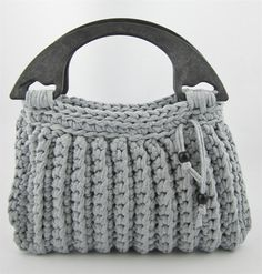 CROCHET PURSE. ~  Tutorial bolso de ganchillo XL con Hoooked
