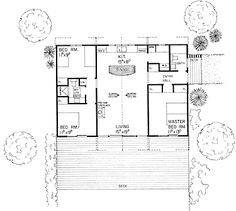 Floor Plans AFLFPW71729 1 Story Contemporary Home with 3