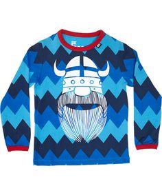 Danefæ fantastische nieuwe Erik de Viking t-shirt met zig-zag print