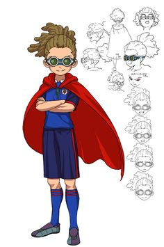 Jude Sharp, Inazuma Eleven Go, One Piece Anime, Concept Art, Character Design, Champs, Fictional Characters, Anatomy, Wallpaper