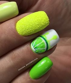 How to choose your fake nails? - My Nails Lime Nails, Lime Green Nails, Neon Nails, Cute Acrylic Nails, Fruit Nail Designs, Green Nail Designs, Nail Art Designs, Blog Designs, Fruit Nail Art