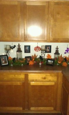 Kitchen cabinet decorated