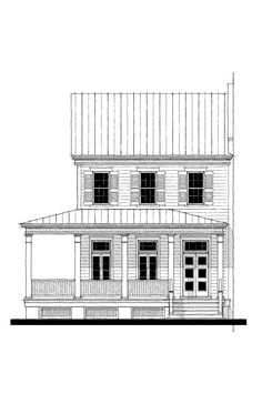 Thomasville Live Work House Plan Design from Allison Ramsey Architects Commercial Building Plans, Mix Use Building, Second Floor, Townhouse, Architects, House Plans, Photo Galleries, Garage, Floor Plans