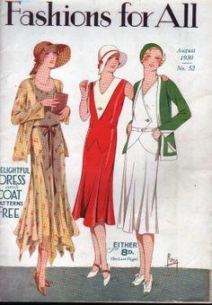 RARE Vtg 1930 Sewing Pattern Book Fashions for All Dress Pattern U K   eBay Timeless style