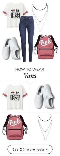 """Untitled #425"" by vickyagh on Polyvore featuring Uniqlo, H&M, Vans and Victoria's Secret"