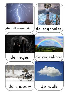 woordkaarten1 Dutch Language, What To Make, Weather, Projects, Clouds, Log Projects, Blue Prints, Weather Crafts