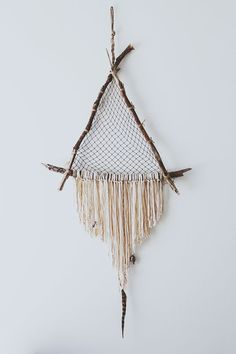 Beautiful dreamcatcher I can actually learn how to make, and yes, can't wait to work on this Driftwood Crystal Dreamcatcher from Free People Blog #freepeople: