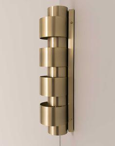 Aplique pared  cilindro aros diámetro 18  oro mate