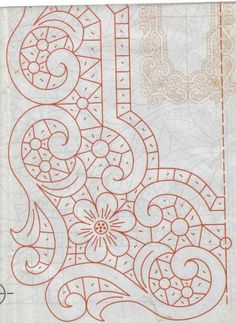 40 Tane Dantel Angles Desenleri - Gray Tutorial and Ideas Cutwork Embroidery, Hand Embroidery Flowers, Paper Embroidery, Hand Embroidery Patterns, Lace Patterns, Vintage Embroidery, Quilt Patterns, Machine Embroidery, Embroidery Designs