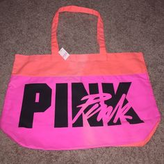 VS PINK Large Tote New with tags *some discolored as shown on picture :/ ✨Save $$$ when bundling with other items. NO TRADE PINK Victoria's Secret Bags Totes