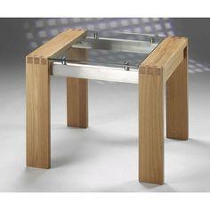 Eiche Und Glas Beistelltisch Überprüfen Sie mehr unter http://stuhle.info/41119/eiche-und-glas-beistelltisch/