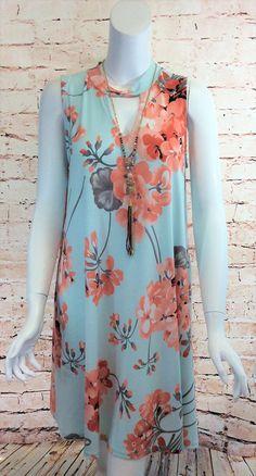 Peachy Poppy Dress