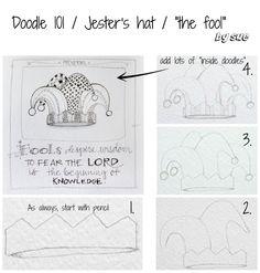Doodle 101 / Jester's hat / Proverbs Doodle Lettering, Types Of Lettering, Hand Lettering, Scripture Art, Bible Art, Bible Verses, Scriptures, Zen Doodle, Doodle Art