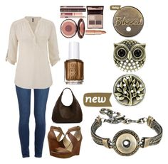 """""""Warm tones to go with your brass Magnolia and Vine jewelry!"""" by crystallynndiaz ❤ liked on Polyvore featuring moda, Paige Denim, maurices, Lucky Brand, Bottega Veneta y Charlotte Tilbury"""