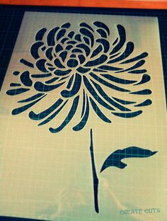 Chrysanthemum Flower reusable STENCIL for home wall interior design decor