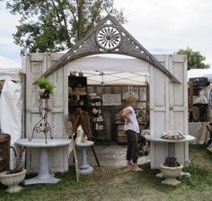 Check out the webpage to learn more about festival tent setup outdoor weddings Click the link for more info Antique Booth Displays, Antique Booth Ideas, Craft Booth Displays, Booth Decor, Store Displays, Display Ideas, Craft Booths, Retail Displays, Jewelry Displays