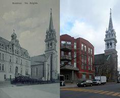 https://flic.kr/p/bweDRn   Vers 1900-2008   L'école et l'église Sainte-Brigide, rue Alexandre-Desève.  Source : BANQ, cartes postales, CP 5988, bibnum2.banq.qc.ca/bna/carpos/c05988.jpg
