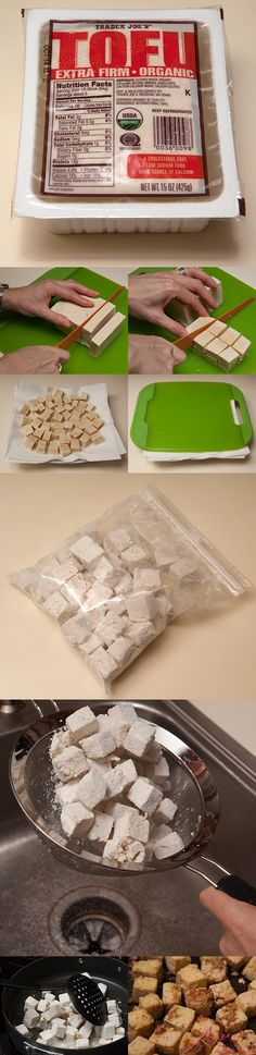 Could You Eat Pizza With Sort Two Diabetic Issues? Fool-Proof Tofu Preparation: This Simple Tofu Preparation Will Convert You. You Think That You Don't Like Tofu, But That Might Be Because You Don't Know How To Coax Great Texture Out Of It. Vegan Foods, Vegan Dishes, Vegan Vegetarian, Vegetarian Recipes, Healthy Recipes, Tofu Dishes, Healthy Eats, Easy Recipes, Veggie Recipes