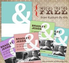 free printable engagement announcement card