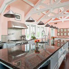 a pink kitchen!