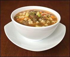 Sopa de Carne Bovina Legumes e Macarrão