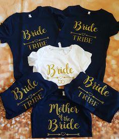 Bridal Party Shirts Bachelorette New Ideas Bride And Bridesmaid Shirts, Wedding Party Shirts, Bridal Party Shirts, Gifts For Wedding Party, Brides And Bridesmaids, Wedding Ideas, Team Bride Shirts, Team Shirts, Bridesmaid Gifts