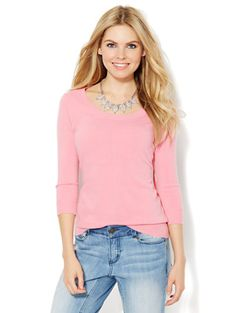 Shop Waverly Scoop-Neck Sweater - Solid . Find your perfect size online at the best price at New York & Company.