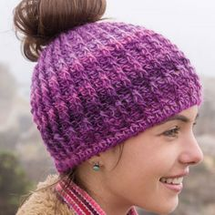 Messy Bun Crochet Hat by Annie's Signature Designs