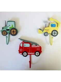 Jacket/coat hook ideas for Camerons digger bedroom theme!
