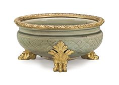 date unspecified AN ORMOLU-MOUNTED CHINESE CELADON-GLAZED PORCELAIN BOWL THE PORCELAIN MING (1368-1644), THE ORMOLU LATE 19TH/EARLY 20TH CENTURY Price realised USD 6,250